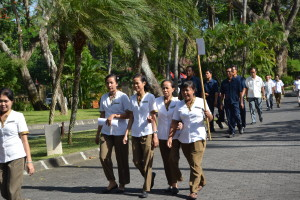 Housekeeping Team heading to assembly point