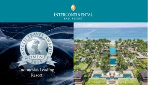 InterContinental Bali Resort is nominated for several categories on World Travel Awards 2015