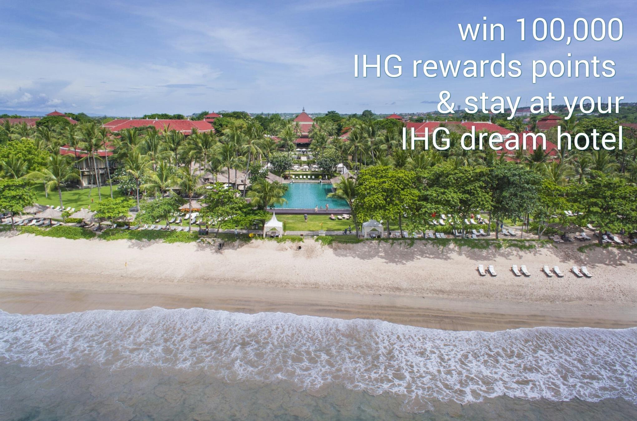 Getting closer to get 100,000 IHG Rewards Points