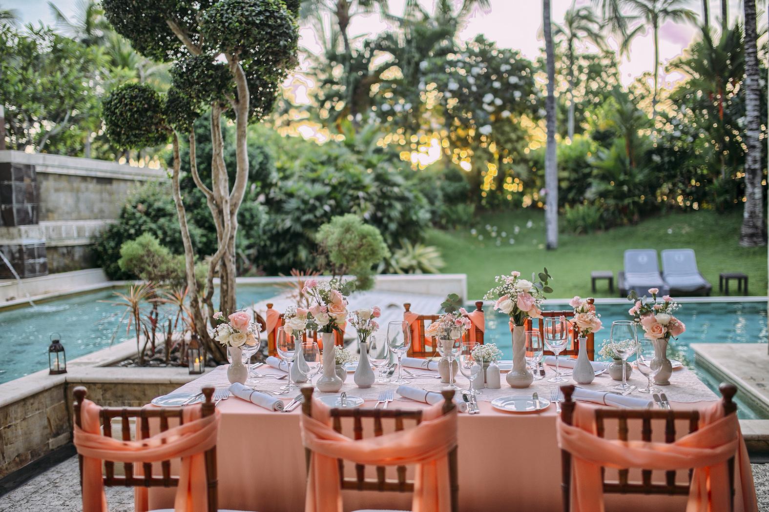 Long table set