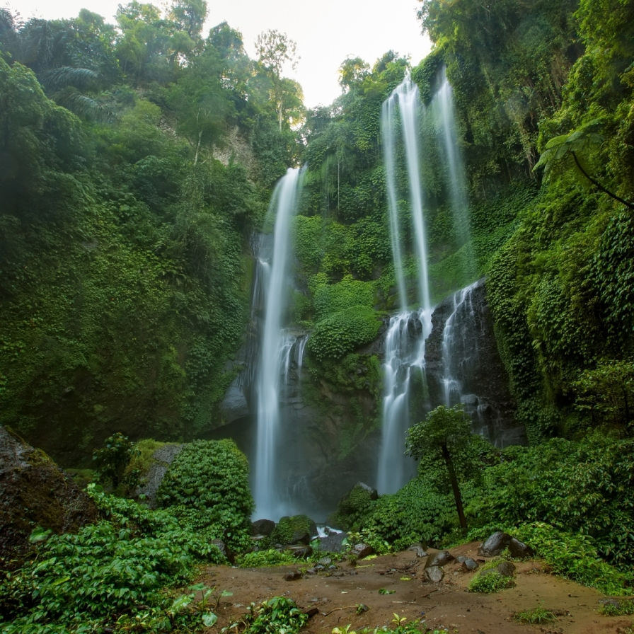 THE SPECTACULAR WATERFALLS OF BALI