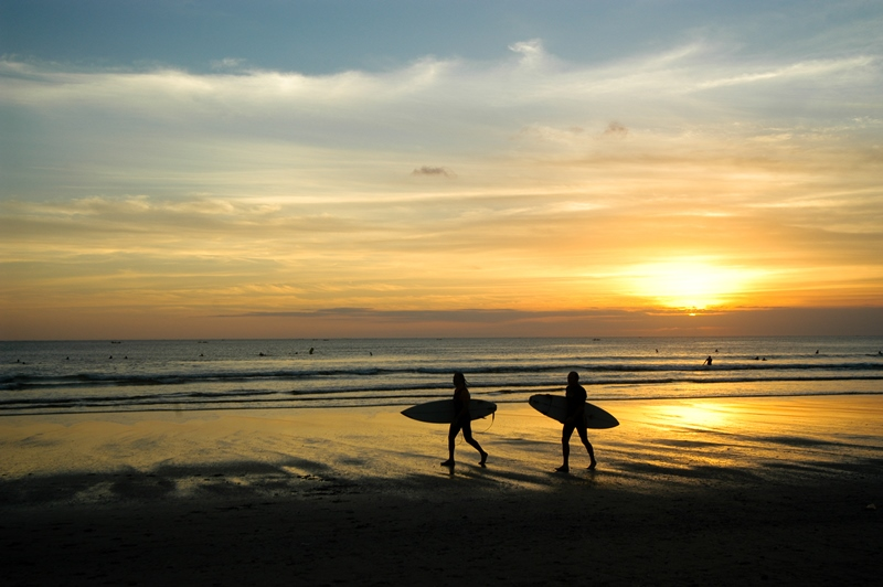Sunset Surfer Bali InterContinental Bali Resort