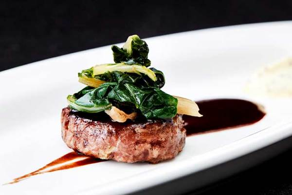 beef and pork burger tropped with chard 600x400