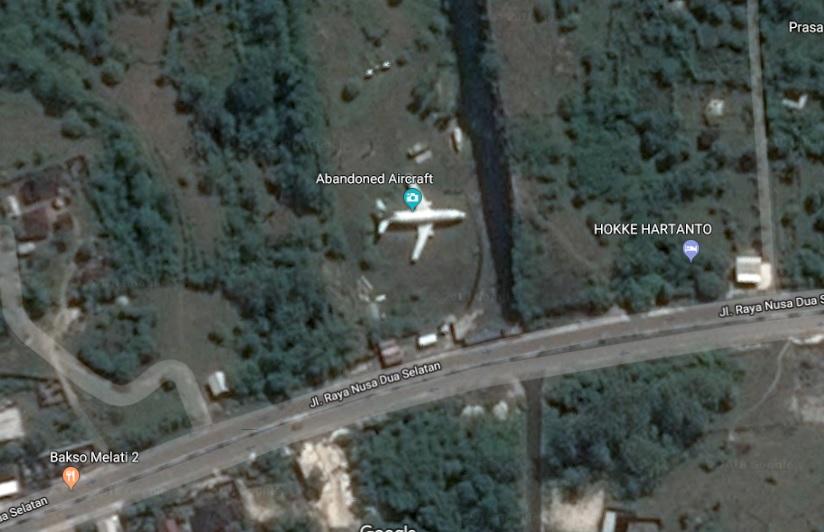 abandoned plane south kuta